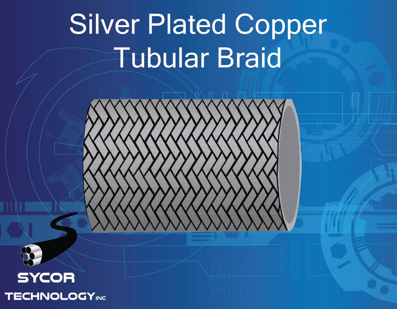 Silver Plated Copper Tubular Braid