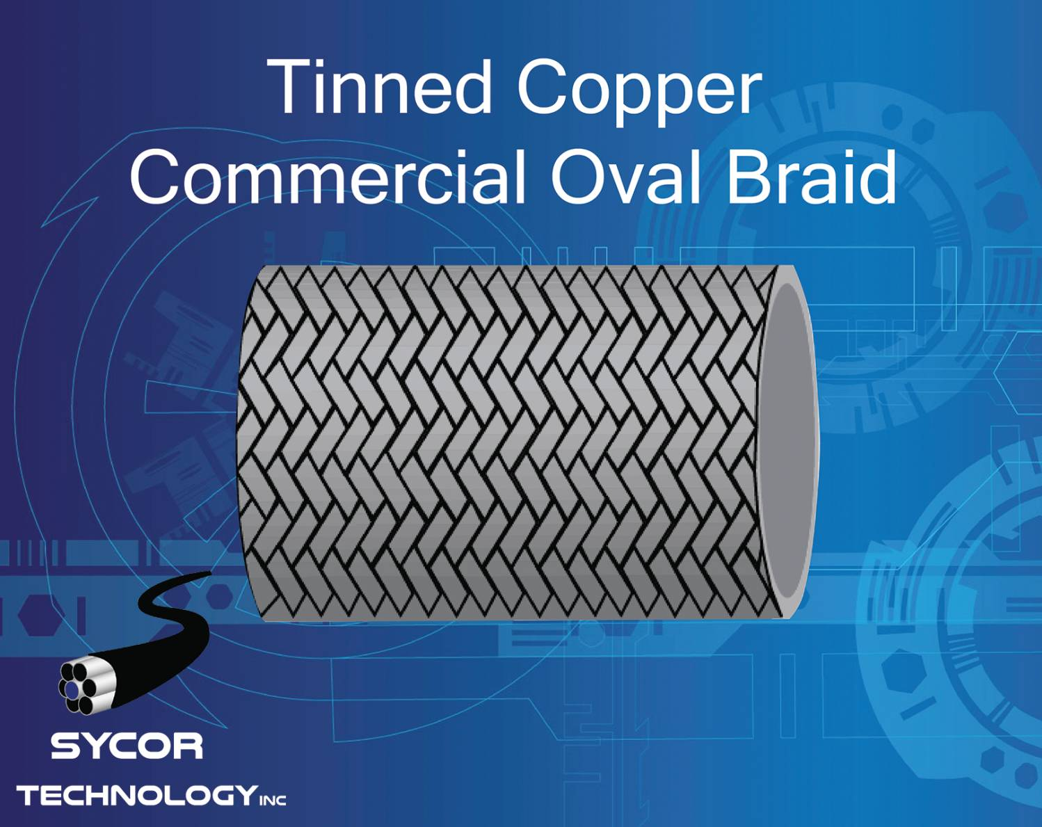 Tinned Copper Commercial Oval Braid
