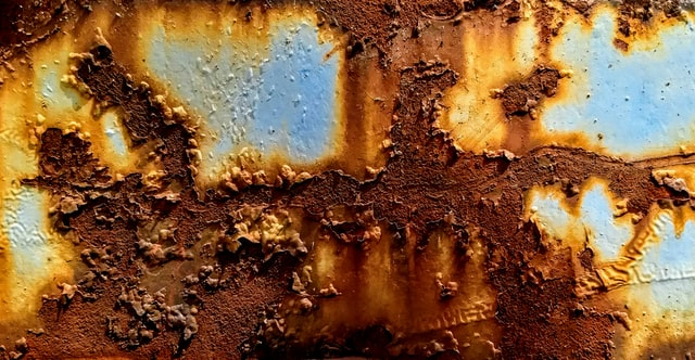 Corrosion on metal Example