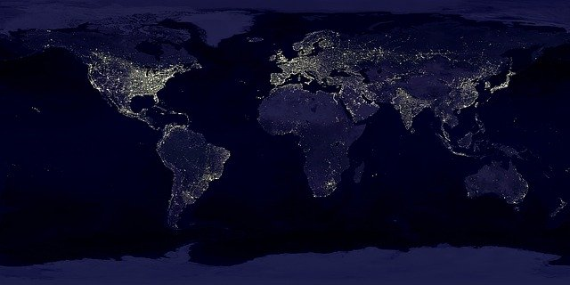 Lighting from wire seen from space