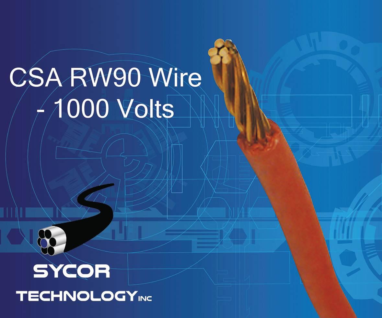CSA RW90 Wire 90°C, 1000 Volts