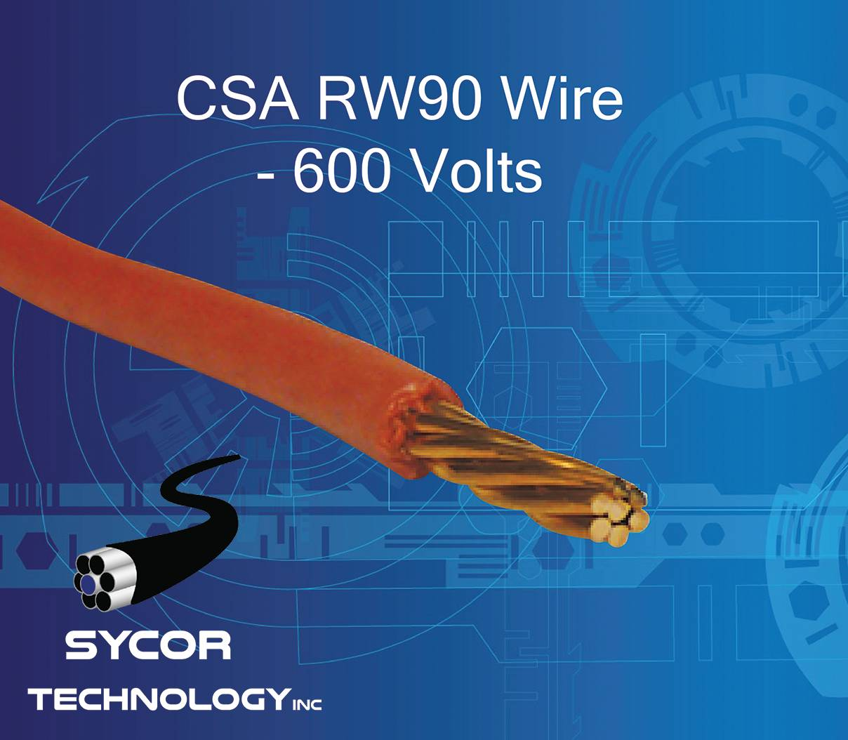 CSA RW90 Wire 90°C, 600 Volts