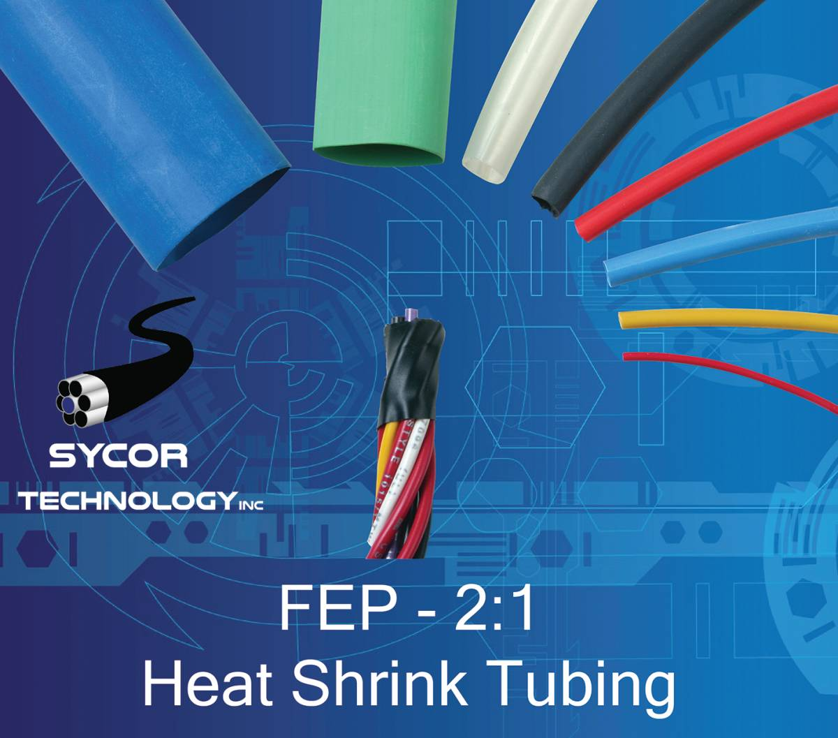 FEP Electrical Heat-Shrink Tubing -  2:1