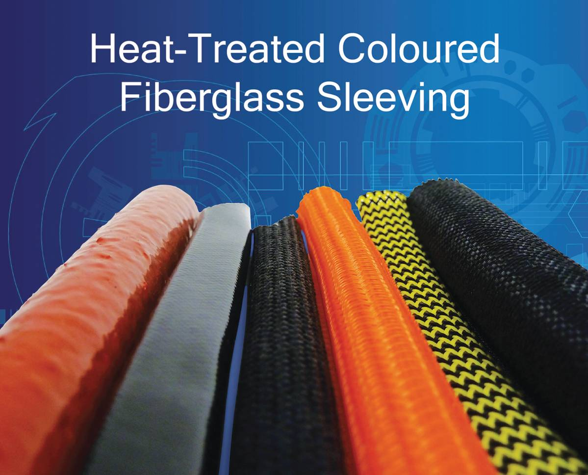 Cable Management: Heat Treated and Coloured Fiberglass Sleeving