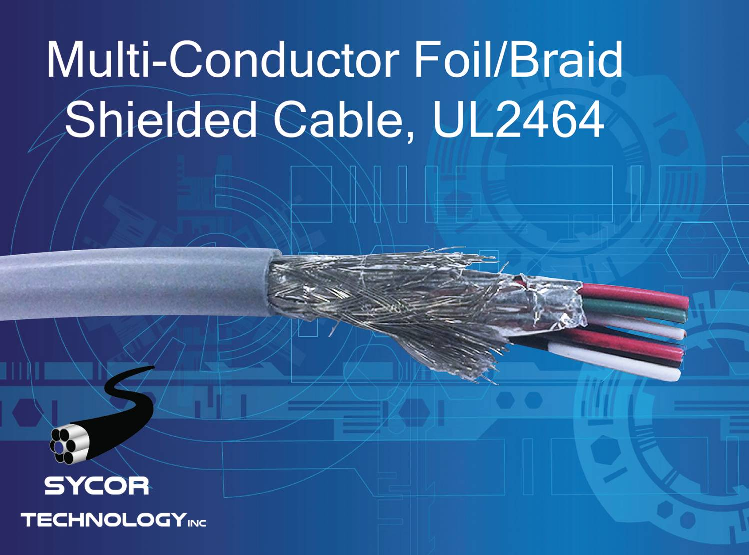Multi-Conductor Foil/Braid Shielded Cable, UL2464