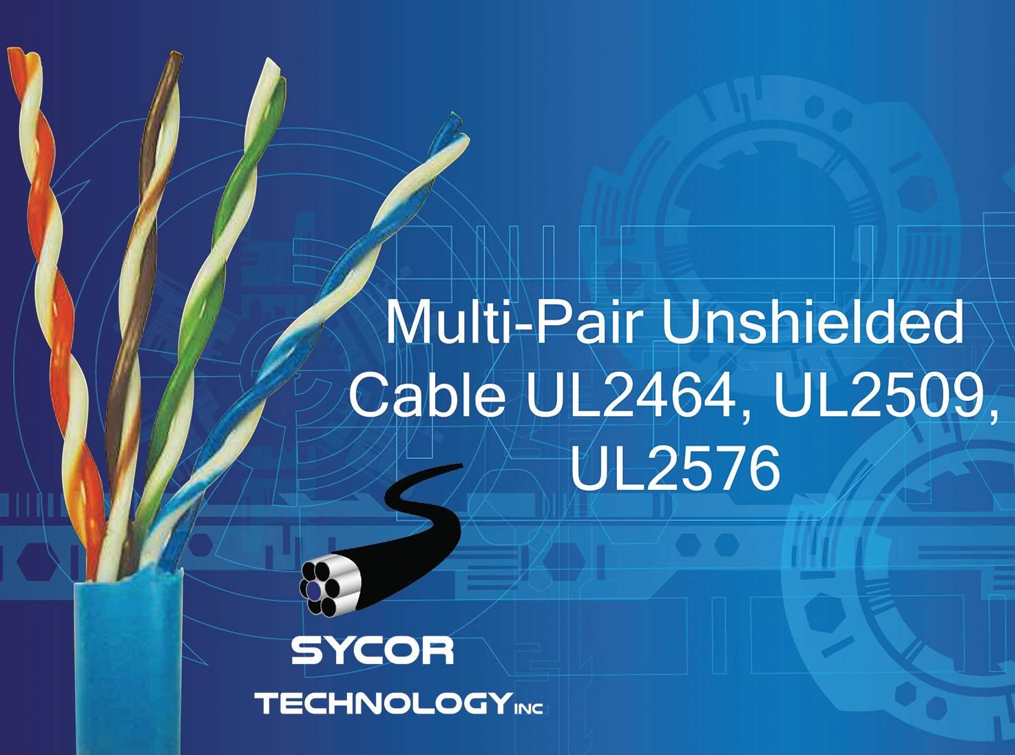 Multi-Pair Unshielded Cable UL2464, UL2509, UL2576