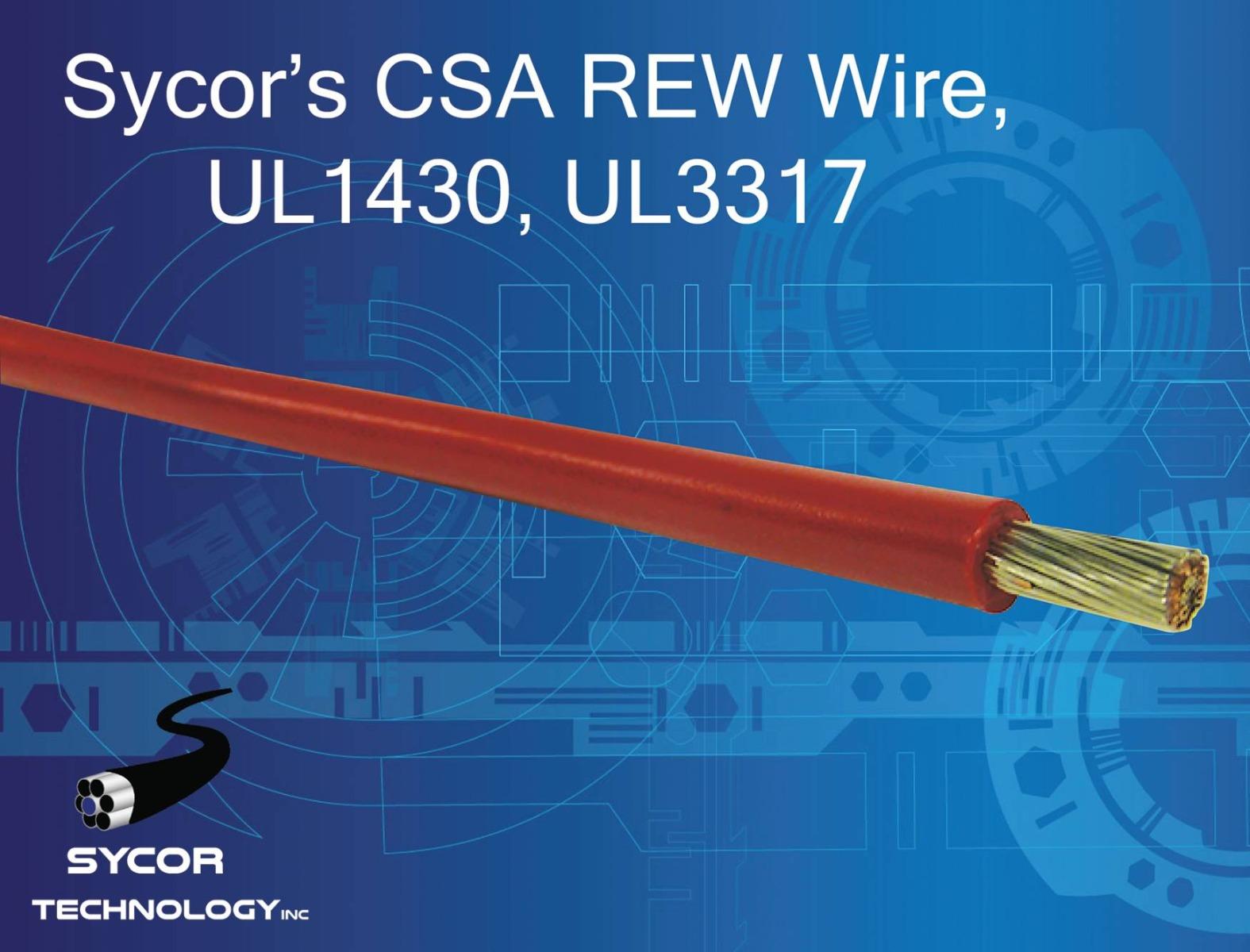 CSA REW Wire, UL1430, UL3317