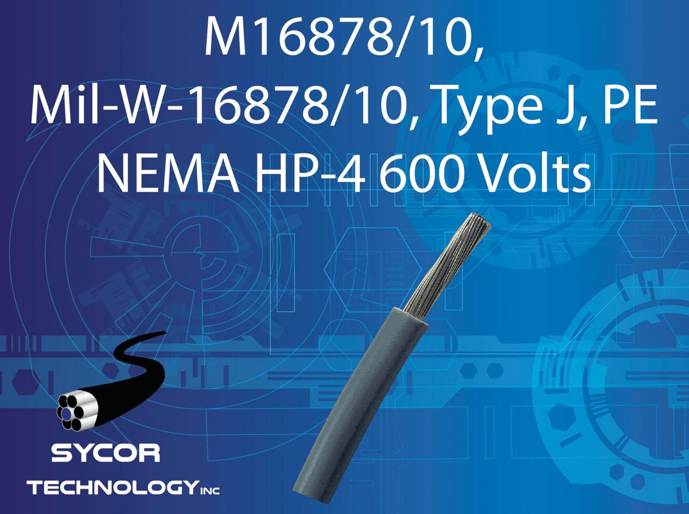 M16878/10, MIL-W-16878/10 Type J Wire