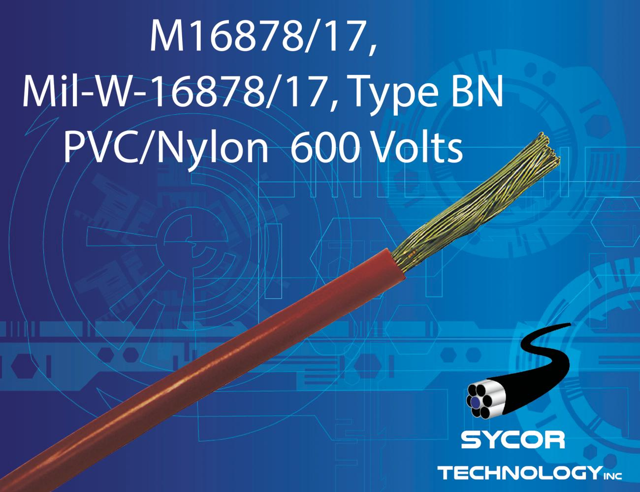 M16878/17, MIL-W-16878/17, Type BN, Mil-Spec Wire