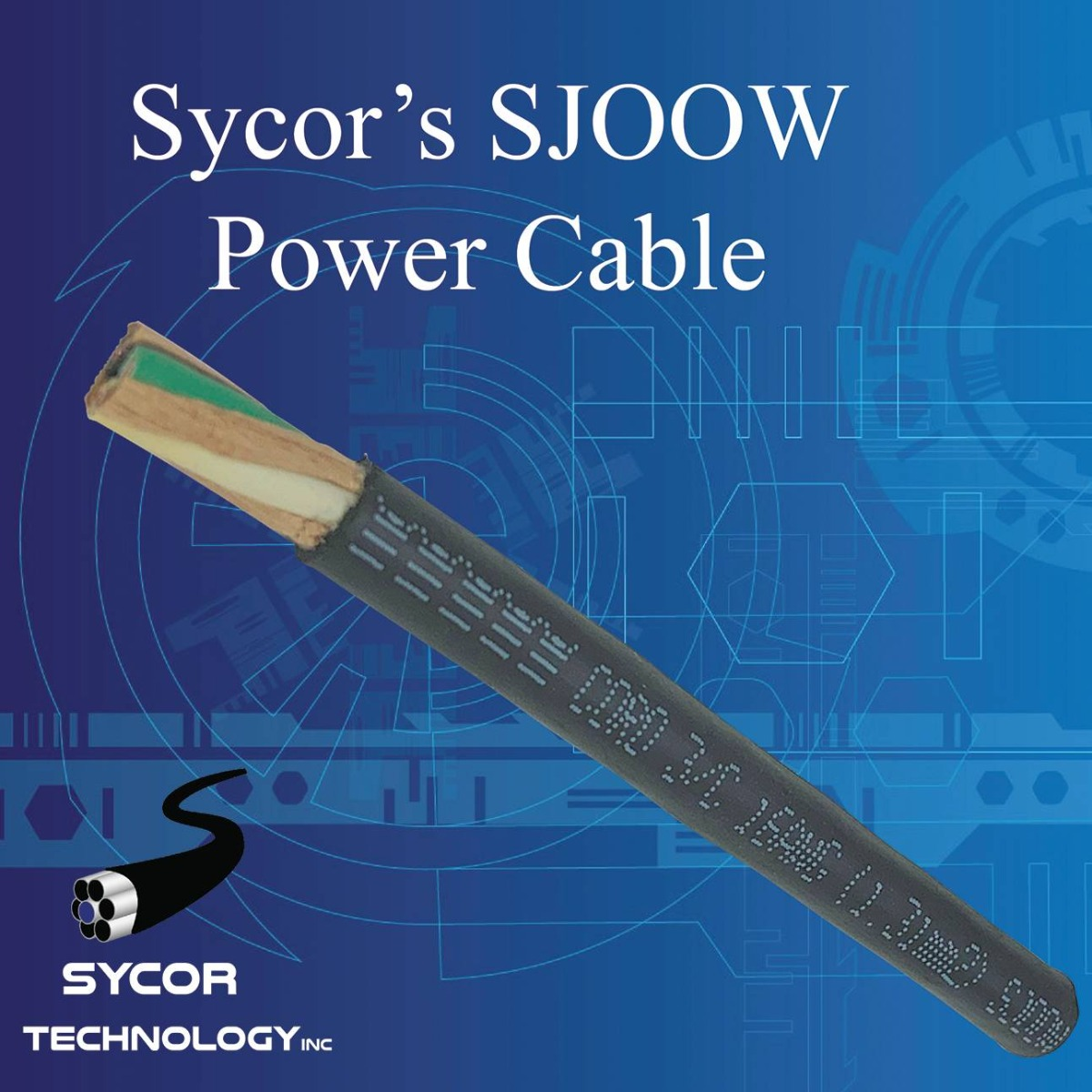 Type SJOOW Portable Power Cord